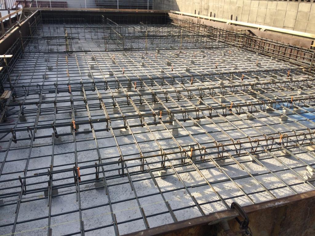 コンクリート打設前の鉄筋状況。ここに美しさがないとダメです。