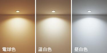 LED電球色比較