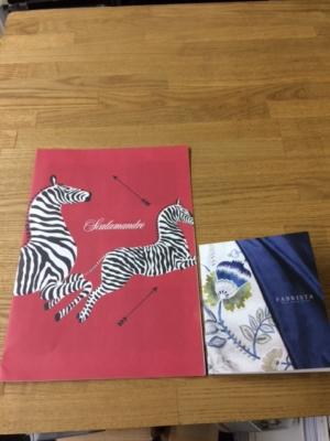 ScalamandreのカタログとFABRISUTAノカタログ