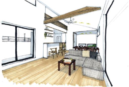 10/21(日)30代ご夫婦が建てる、空に近い2階リビング 「大空間×高天井」キッチンの上にロフトがある家の完成見学会開催決定!